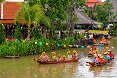 Desempenho da competição tradicional tailandesa do canto foto de stock royalty free