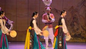Desempenho da dança tradicional de Coreia do Sul Seoul video estoque