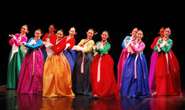 Desempenho da dança tradicional coreana de Busan Imagens de Stock Royalty Free