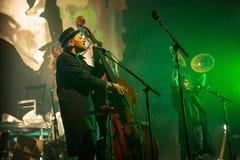 Desempenho da faixa de Billy no jogo do desempenho-concerto de Tom Waits Contemporary Art Museum fotografia de stock royalty free