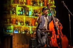 Desempenho da faixa de Billy no jogo do desempenho-concerto de Tom Waits Contemporary Art Museum fotos de stock