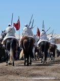 Desempenho da fantasia tradicional em Marrocos fotos de stock royalty free