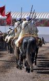 Desempenho da fantasia tradicional em Marrocos imagem de stock royalty free