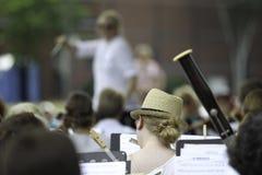 Desempenho da orquestra sinfônica Foto de Stock Royalty Free