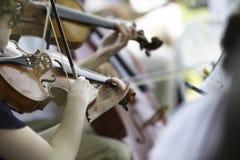 Desempenho da orquestra sinfônica Fotos de Stock Royalty Free