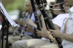 Desempenho da orquestra sinfônica Fotografia de Stock Royalty Free