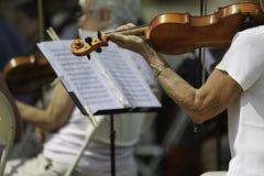 Desempenho da orquestra sinfônica Imagens de Stock