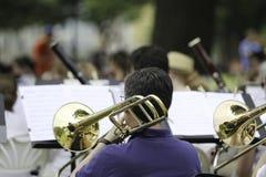Desempenho da orquestra sinfônica Imagem de Stock