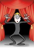 Desempenho da pantomima no estágio Imagem de Stock