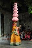 Desempenho de Bhavai - dança popular famosa de Rajastha Fotografia de Stock Royalty Free