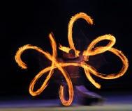 Desempenho de fogo Fotos de Stock Royalty Free