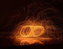 Desempenho de fogo Imagens de Stock Royalty Free