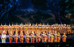 Desempenho de Khon, episódio de Prommas 2015 Imagens de Stock Royalty Free