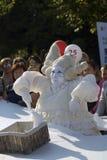 Desempenho de Mimo Crocodile do teatro no parque de Gorky em Moscou Fotos de Stock