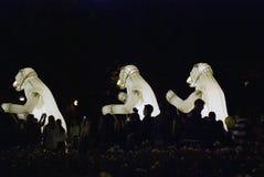 Desempenho de teatro do Menage de Remue no parque de Gorky em Moscou Foto de Stock