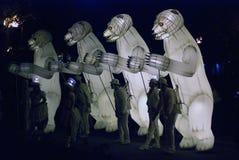Desempenho de teatro do Menage de Remue no parque de Gorky em Moscou Fotografia de Stock Royalty Free