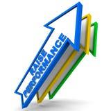 Desempenho do aumento ilustração stock