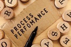 Desempenho do processo da escrita do texto da escrita O conceito que significa medidas do processo encontra eficazmente o objetiv imagem de stock royalty free