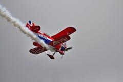 Desempenho especial do biplano de Pitts Fotografia de Stock