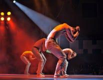 Desempenho masculino do bailado Fotografia de Stock