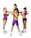 Desempenho pelo aerobics novo do atleta Imagem de Stock Royalty Free