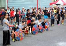 Desempenho religioso das artes marciais em Taiwan Fotos de Stock Royalty Free