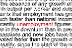 desempleo Imagenes de archivo