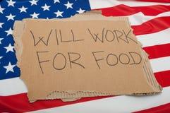 Desempleo en los E.E.U.U. Fotografía de archivo libre de regalías