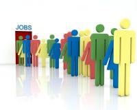 Desemprego ilustração royalty free