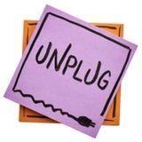 Desenchufe - el concepto de la sobrecarga de información foto de archivo libre de regalías