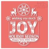 Deseándole mucha estación de Joy Holiday ¡Nueva… cerveza feliz! Imagenes de archivo