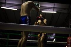 Desenfocado del boxeo, oscuro Imágenes de archivo libres de regalías