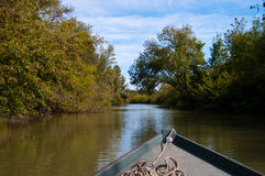 Desengate com o barco de pesca pequeno Imagem de Stock