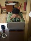 Desengate de negócio - frustração atrasada de trabalho foto de stock royalty free