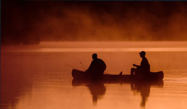 Desengate de pesca da manhã Fotos de Stock