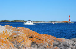 Desengate do barco de motor Foto de Stock