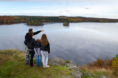 Desengate do outono para a família inteira Fotografia de Stock Royalty Free