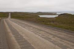Desengate na estrada em Islândia fotos de stock