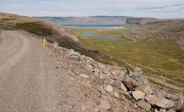 Desengate na estrada em Islândia imagem de stock