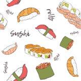 ` Desenhado à mão da entrega do alimento do ` do teste padrão Imagem de Stock