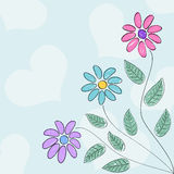 Desenhado como flores Foto de Stock