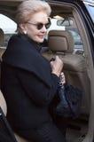 Desenhador de moda Carolina Herrera em New York Foto de Stock Royalty Free