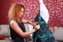 Desenhador de moda no trabalho Foto de Stock