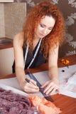 Desenhador de moda no trabalho Imagens de Stock Royalty Free