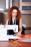 Desenhador de moda no trabalho Imagem de Stock