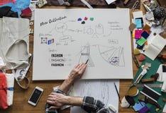 Desenhador de moda Stylish Showroom Concept imagem de stock