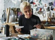 Desenhador de moda Stylish Showroom Concept imagem de stock royalty free