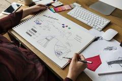 Desenhador de moda Stylish Showroom Concept imagens de stock royalty free