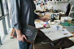 Desenhador de moda Stylish Showroom Concept fotos de stock royalty free