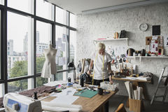 Desenhador de moda Stylish Showroom Concept foto de stock